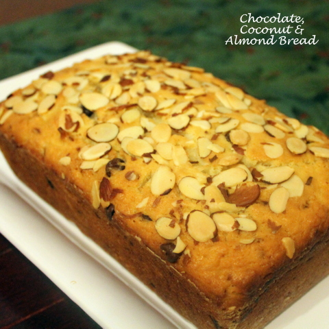 Chocolate Coconut Almond Bread