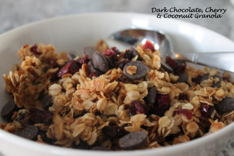 Dark Chocolate Cherry & Coconut Granola