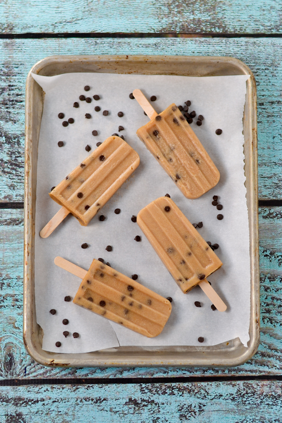 Chocolate Chip Cookie Dough Popsicles from Cara's Cravings