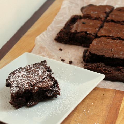 Dark Chocolate Almond Brownies