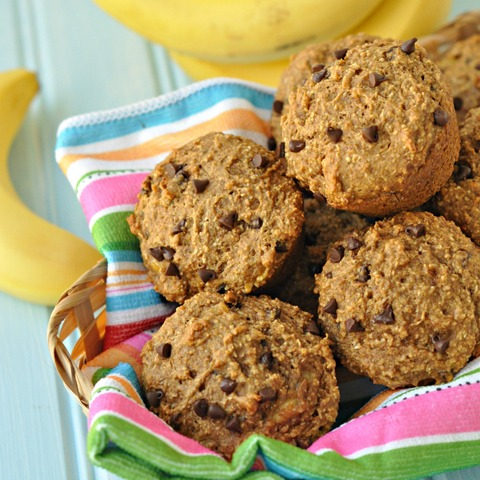 Banana Chocolate Chip Bran Muffin