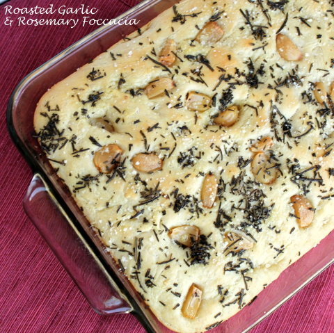 Roasted Garlic & Rosemary Foccacia