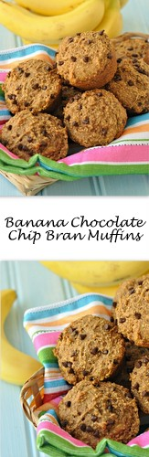 Banana Chocolate Chip Bran Muffins on Books n' Cooks