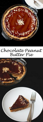 Chocolate Peanut Butter Pie on Books n' Cooks