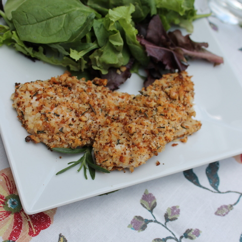 Rosemary Walnut Baked Chicken