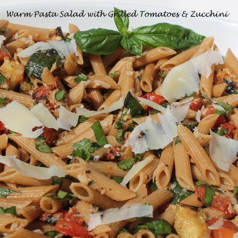 Warm Pasta with Grilled Zucchini and Tomato 2