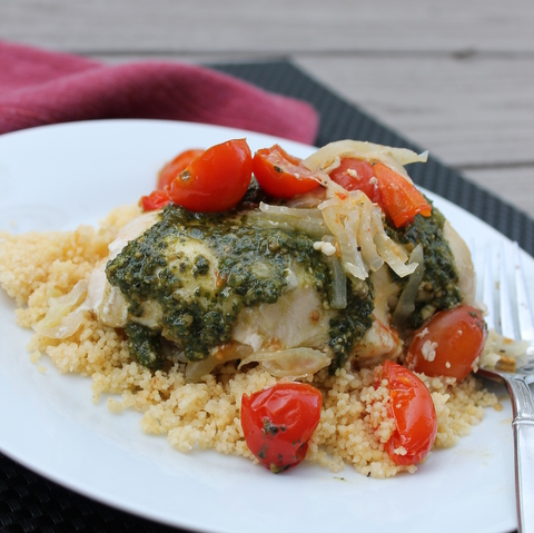Pesto Chicken with Couscous 4