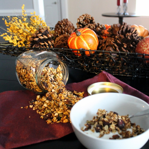 Pumpkin Quinoa Granola from Books n' Cooks