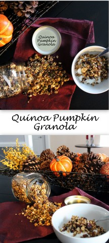 Quina Pumpkin Granola from Books n' Cooks