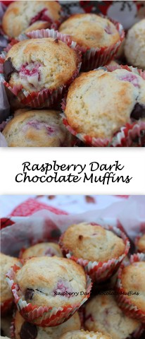 Raspberry Dark Chocolate Muffins