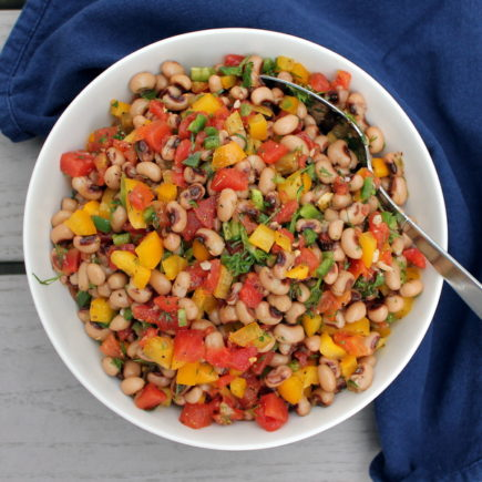 Texas Caviar - Black eyed peas and fresh veggies are combined to make a hearty, filling - and still healthy! - appetizer perfect for your next Game Day.