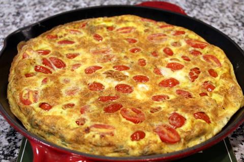 Tomato Asiago Frittata