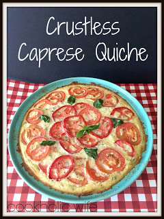 Crustless Caprese Quiche from Cookaholic Wife