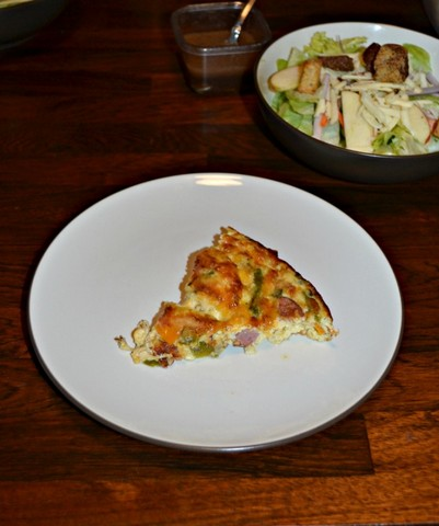 Crustless Kielbasa, Pepper and Asparagus Quiche from Hezzi-D's Books and Cooks-001