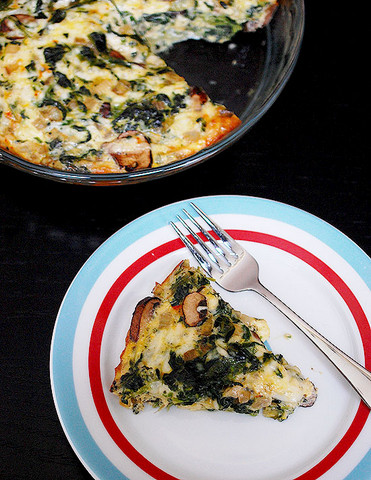 Crustless Spinach and Mushroom Quiche from Eva Bakes-001