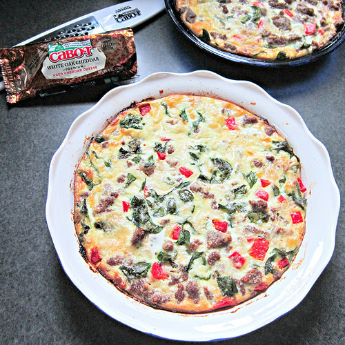 Crustless Zesty Italian Quiche from Sweet Beginnings