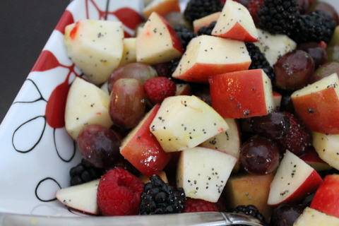 Apple Fruit Salad with Poppy Seed Vinaigrette