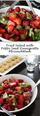 Fruit Salad with Poppy Seed Vinaigrette for Brunch Week