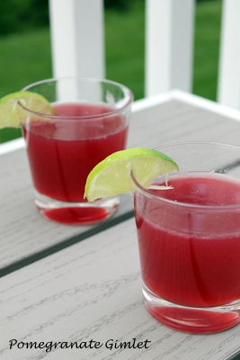 Pomegranate Gimlet