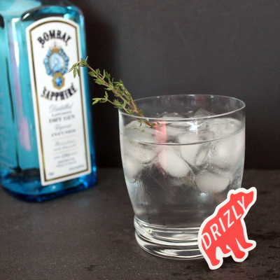 Honey Thyme Gin & Tonic with Drizly