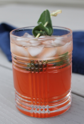 Blood Orange-Sage Vodka Soda - This easy, three-ingredient cocktail is a lightly sweet with savory sage undertones.