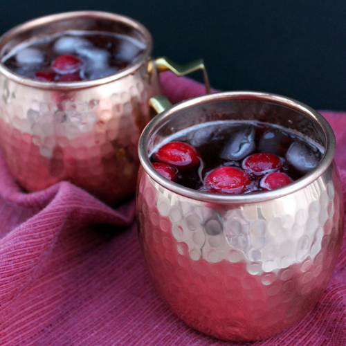 Cranberry Moscow Mules are a fall twist on a classic cocktail