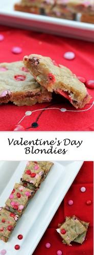 Valentine's Blondies on Books n' Cooks