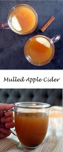 Mulled Apple Cider - Apple cider slowly simmers away with spices that remind you of fall, for a wonderful beverage to savor while you enjoy the beautiful cool weather this fall.