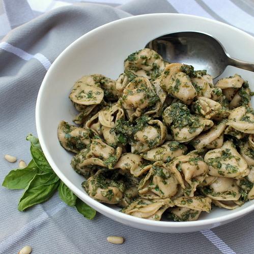 Tortellini with Fresh Basil Pesto