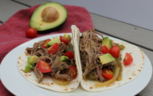 Slow Cooker Beef Tacos with Salsa Verde are an easy, flavorful dinner for busy weeknights.
