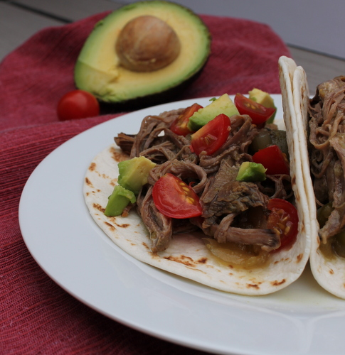 Slow Cooker Beef Tacos with Salsa Verde