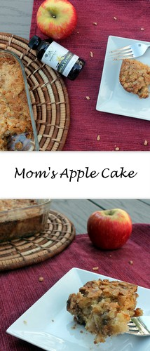 A crispy edge and a moist center, sweet Honeycrisp apples are the star of Mom's Apple Cake. #appleweek @rainierfruit