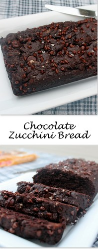 Chocolate Zucchini Bread on Books n' Cooks