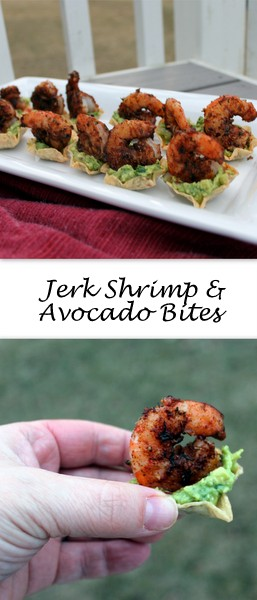 Jerk Shrimp & Avocado Bites on Books n' Cooks