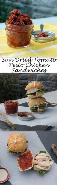 Sun Dried Tomato Pesto Chicken Sandwiches - Sun dried tomato pesto gives a standard chicken sandwich a HUGE flavor boost.