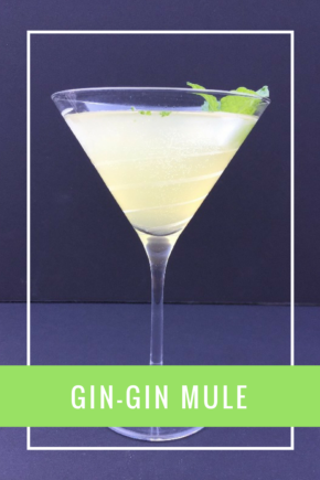 The Gin-Gin Mule is a sweet, minty cocktail using gin, instead of the vodka found in a classic Moscow Mule.