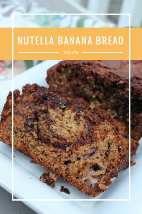 Nutella Banana Bread - Moist banana bread is swirled with rich Nutella for a sweet breakfast or snack.