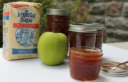 Tart Granny Smith apples and sweet homemade caramel come together in an amazing fall jam. Caramel Apple Jam is a delicious topping for morning toast, PB&J star, compliment to appetizer cheese plates, and a surprising mix-in for fall cocktails.