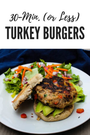 Highly adaptable, these lean Turkey Burgers take minutes to make, only 15 minutes to cook and make enough to stock your freezer.