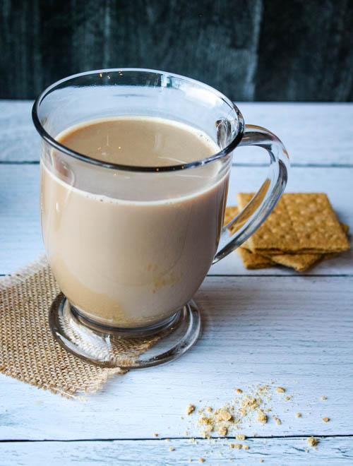 Skip the coffee shop latte and make one at home. Components for this Graham Cracker Latte can be prepped ahead and warmed just prior to serving, to give your morning a sweet, warm kick start.