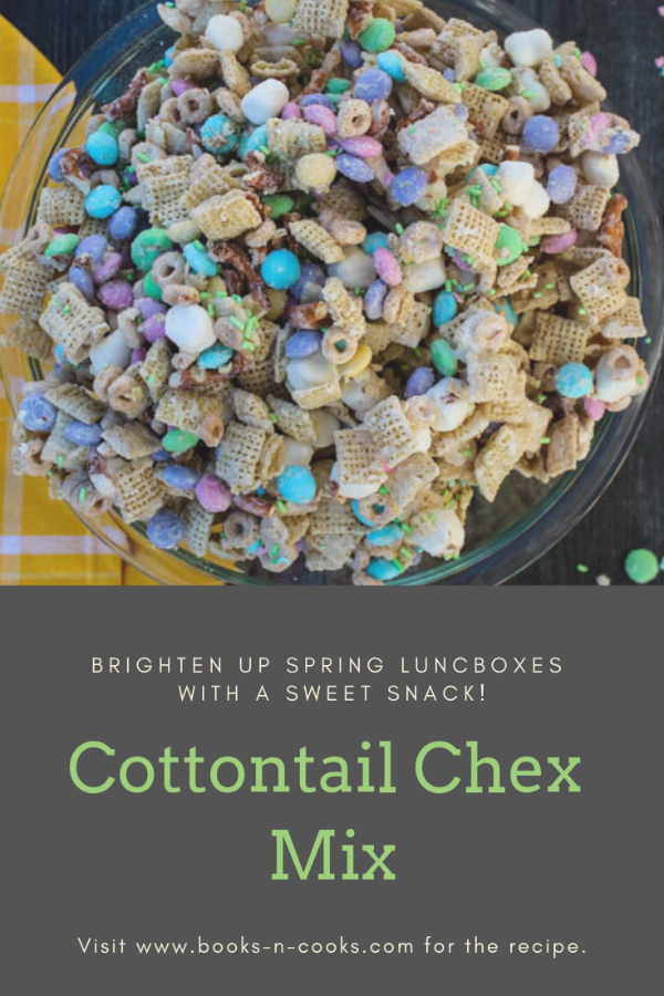 Chex cereal, Cheerios and pretzels are tossed with kids favorites (M&Ms and marshmallows!) and covered with a vanilla candy coating and springtime sprinkles to create this Cottontail Chex Mix, a festive snack that's hard to stop at just one handful.