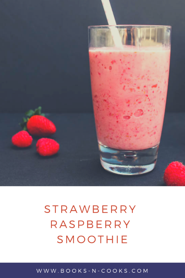 Fruit, @nancysyogurt and milk make this 5-minute, 4-ingredient Strawberry Raspberry Smoothie a filling but healthy breakfast or snack. #SpringSweetsWeek