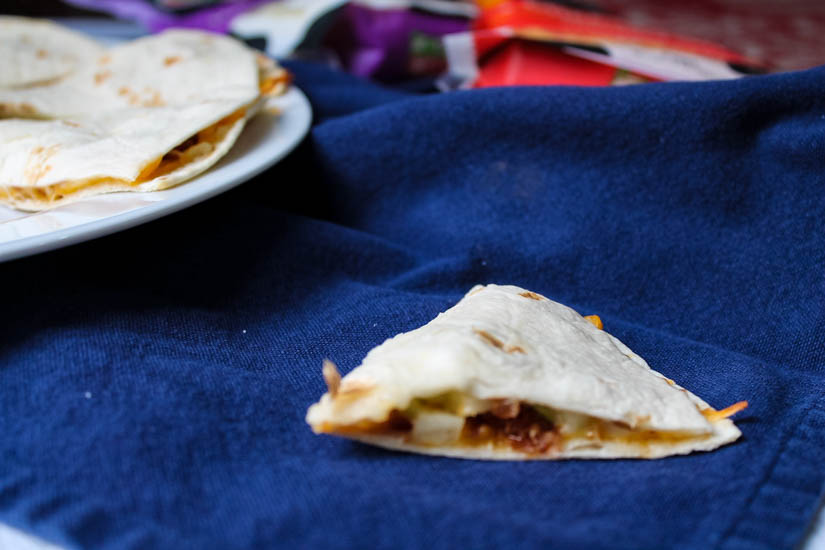 Brighten up lunch or dinner with these Apple, Cheddar & Bacon Quesadillas. Tart apples, smokey bacon and a creamy blend of Mexican and mozzarella cheeses come together in a blast of flavor, and a meal that's ready in less than 30 minutes!
