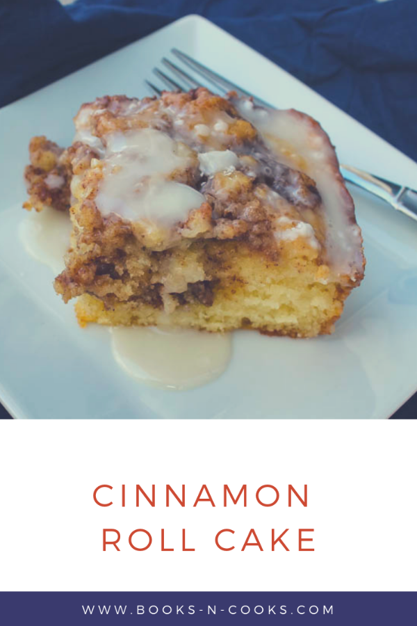 This Cinnamon Roll Cake is a light, fluffy cake swirled with rich cinnamon, reminiscent of a favorite breakfast pastry.