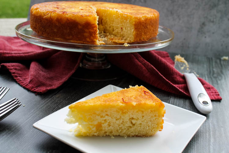Put a sweet twist on that jar of saffron at the back of your spice cabinet! This light sour cream cake gets a sweet saffron-orange glaze that is beautiful and surprising.